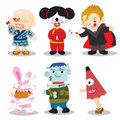 Halloween Characters Stock Photo
