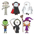 Halloween characters Royalty Free Stock Photography