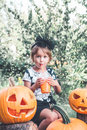 Halloween. Child Dressed In Bl...