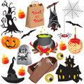 Halloween clip art party elements Stock Image
