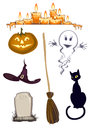 Halloween cliparts Stock Photo