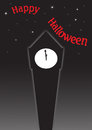 Halloween Clock Tower Royalty Free Stock Photo