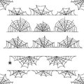 Halloween cobweb vector frame border and dividers with spider web Royalty Free Stock Photo
