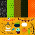 Halloween collection of design elements Royalty Free Stock Photo
