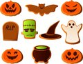 Halloween cookies Royalty Free Stock Photos