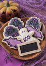 Halloween cookies colorful for party Royalty Free Stock Images