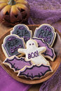 Halloween cookies colorful for party Royalty Free Stock Photo