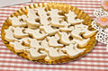 Halloween cookies for party in the shape of ghost Royalty Free Stock Image