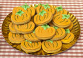 Halloween cookies for party in the shape of pumpkins Stock Photography