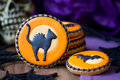 Halloween cookies with a theme Stock Photography