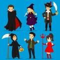 Halloween Costumes Vector Set