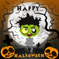 Halloween crazy guy Royalty Free Stock Photo