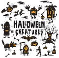 Halloween Creatures Set Stock Photography