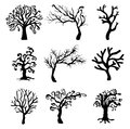 Halloween creepy scary bare tree vector symbol icon design. Royalty Free Stock Photo