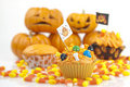 Halloween cupcake Stock Photography