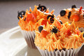 Halloween cupcakes Stock Photo