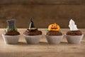 Halloween Cupcakes Background