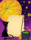 Halloween cute card Stock Photography