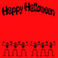 Halloween dancing skeleton Royalty Free Stock Photo