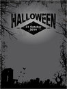 Halloween dark grunge poster Royalty Free Stock Photo