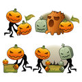 Halloween Day Pumpkin Dreary Illustrations Stock Images