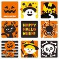 Halloween decorated cute icons.symbols set