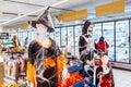 Halloween decorated supermarket store