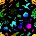 Halloween Decoration Seamless ...