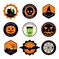 Halloween design element set flat design Royalty Free Stock Photo