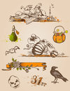 Halloween design elements