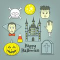 Halloween design elements Royalty Free Stock Photo