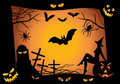 Halloween design elements. vector Stock Photo
