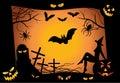 Halloween design elements. vector Royalty Free Stock Photo