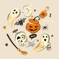 Halloween design vector decorations
