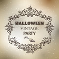 Halloween designs retro style elements background Royalty Free Stock Photography