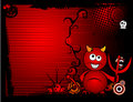 Halloween devil banner Stock Image
