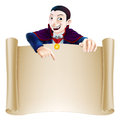 Halloween Dracula Scroll Royalty Free Stock Photo