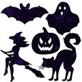 Halloween drawing silhouettes
