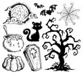 Halloween drawings collection 2 Stock Image