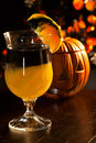 Halloween drinks - Rotten Pumpkin Cocktail Stock Image