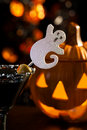 Halloween drinks - Scary Martini Royalty Free Stock Photos