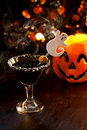 Halloween drinks - Scary Martini Royalty Free Stock Photo