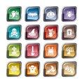 Halloween Element Icons Royalty Free Stock Photo