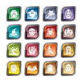 Halloween Element Icons Royalty Free Stock Photo