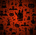 Halloween elements seamless pattern background eps file happy vector organized in layers for easy editing Royalty Free Stock Photos