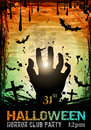 Halloween fear horror party background for flyers or posters Royalty Free Stock Photo