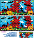 Halloween find the 10 differences visual puzzle Royalty Free Stock Photo