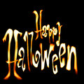 Halloween flaming font Royalty Free Stock Photo