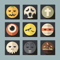 Halloween flat icons set Stock Image