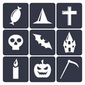 Halloween flat vector icons set this is file of eps format Royalty Free Stock Photography